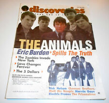 Discoveries Music Magazine #160 -Sept'01-The Animals, Zombies, 5 Dollars, M.Gaye