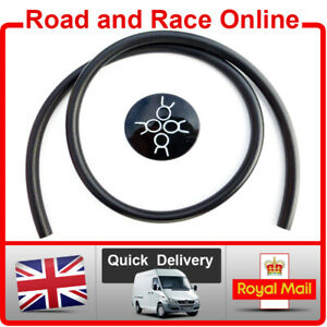 Motorcycle Fuel Line Petrol Pipe 8mm I/D 12mm O/D 1m Long Black With 4 Clips