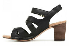 Clarks Womens Spiced Ava Black Leather Sandals - UK6.5
