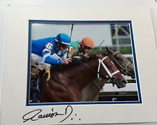 Alpha in Dead Heat Travers Signed Ramon Dominguez 11x14 matted 8x10 Photo