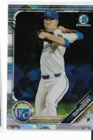 2019 Bowman chrome prospects atomic refractor parallel Brady Singer KC royals