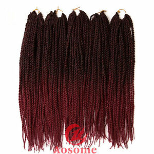Ombre Kanekalon Micro Senegalese Twist Crochet Braid Hair Extensions 22'' 1B/BUG
