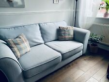 DFS Sofa 2 seater design fabric Light Blue Immaculate Interiors Styl