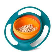 Universal Gyro Bowl 360 Rotate Spill-Proof baby toddler kids feeding Bowl dishes