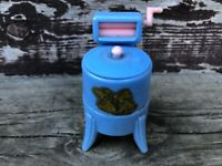 VTG Renewal Dollhouse Blue Washing Machine No. 31 w Original Decal