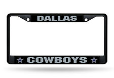Dallas Cowboys Metal BLACK License Plate Frame Auto Truck Car NFL