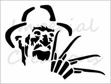 "Freddy Krueger #2 Stencil Nightmare On Elm Street 8.5"" x 11"" Reusable Sheet S698"