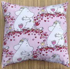 Moomin Love hearts Vintage Fabric Filled Cushion
