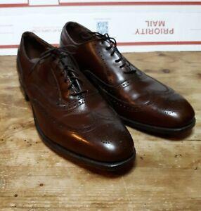 Vtg Footjoy Brown Wingtip Oxford Street Spikeless Golf Shoes Mens 10.5 A