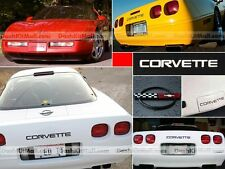 BLACK CHEVY CORVETTE C4 1991-1996 FRONT & REAR BUMPER LETTERS INSERTS NOT DECALS