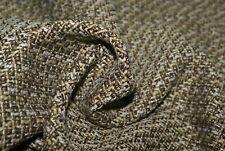 1m x 1.48m CHUNKY BOUCLE Suiting / Coat Fabric Choc, Cream, Turquoise