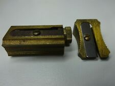 Pair Of Vintage DUX Brass Pencil Sharpeners - 1 Adjustable 1 Manual - Very Nice