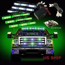 54 LED Car Truck Strobe Emergency Warning Light for Deck Dash Grill White Green