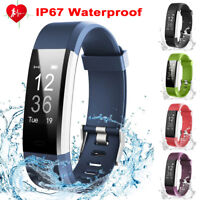 Smart Watch Wristband Blood Pressure Heart Rate Monitor Fitness Tracker Bracelet