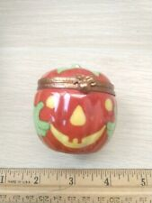 Limoges France Porcelain Pumpkin Trinket Box