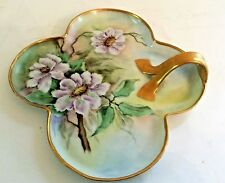 Vintage Erdmann Schlegelmilch hand painted and signed candy/cookie dish