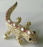 Lizard Pin Brooch - Gem Set Lizard Pin Brooch