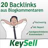 20 Backlinks aus deutschen Blogs | Seo Optimierung | Backlinkaufbau | per Hand