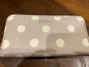 Cath Kidston Polka Dot Wallet coated cotton great condition