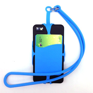 1Pcs Silicone Universal Smartphone Lanyard Necklace and Wrist Strap Phone Holder