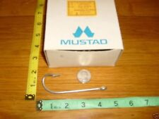 "MUSTAD SEA KIRBY HOOKS SIZE 2 TINNED 4""  EXTRA LONG SHANK 20 PCS NORWAY MADE"