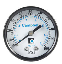 PRESS GAUGE 0-100 PSI LL by CAMPBELL MfrPartNo PGCBM-1-NL