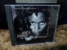 "MICA PARIS The Walt ""Baby"" Love Interview Promo CD 1993 RARE! 90's UK Soul R&B"
