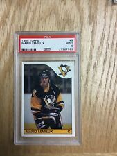 1985 Topps Mario Lemieux Pittsburgh Penguins Card #9 PSA Graded 9 Mint