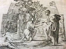 Saint Jacques recevant l'aumone Annibale Carracci 1560-1609 Carrache XVIIe