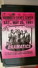 Scarce The Dramatics Boxing Style Concert Poster-1991-Denver