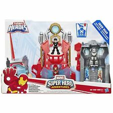 New Playskool Heroes Marvel Super Hero Adventures Iron Man Armor Up Fortress NIB
