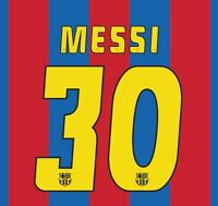 Messi 30 Barcelona 2004-2005 Home Football Nameset for shirt