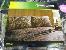 Remington Camo Bed Sheets & Pillowcase Set King Size, 1 Flat, 1 Fitted