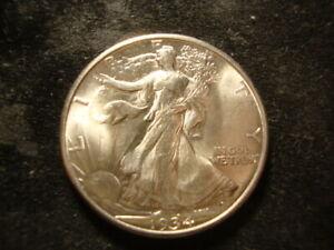 1934 BU GEM BU Walking Liberty Half Dollar Nice  KZS