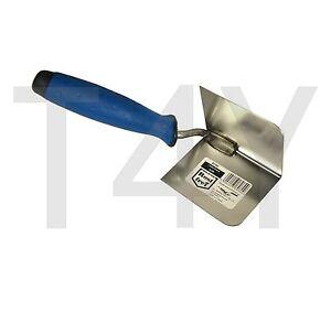 Inside Internal Corner Trowel, Stainless Steel 80x60 Rubber Handle, DIY Tools