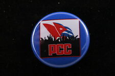 "PCC Communist Party of Cuba Fidel Raul Castro Civil War 1"" Button Badge Pin"