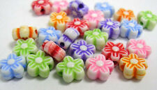 100 X 6mm Mixed Coloured Acrylic Flower Beads