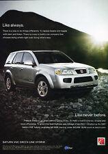 2006 2007 Saturn Vue Green Line Hybrid - Original Car Advertisement Print Ad D62