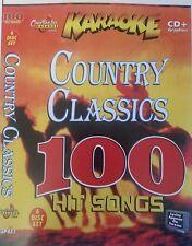 Chartbuster Karaoke CDG Country Classics 6 Disco Conjunto de 100 canciones de país
