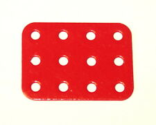 Meccano Part 74a Flat Plate 3x4 Hole Red