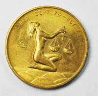 Libra 26mm Copper Good Luck Token Adult Theme You Will Not Be Discounted