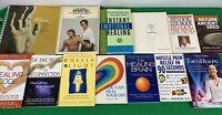 lot of 13 NEW AGE SPIRITUALITY MEDITATION HEALING BOOK LOT