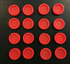 16 Red Checkers Original Parts for 1998 Connect Four Game Milton Bradley
