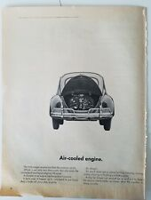 1963 VW Volkswagen Beetle car air-cooled engine in trunk ad