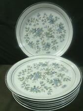 """Elegant Vtg. Arklow Honey Stone """"Avonmore"""" Blue Floral Dinner Plates,Ireland"""