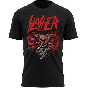 Slasher Freddy Halloween Horror T-Shirt Adults Novelty Shirt Top Gift For Men