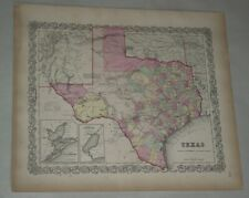 New ListingOriginal 1855 Colton's Map of State of Texas Taken from Atlas