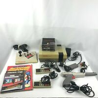 Nintendo NES System NES-001 Complete Bundle Games Controllers Cords Manuals
