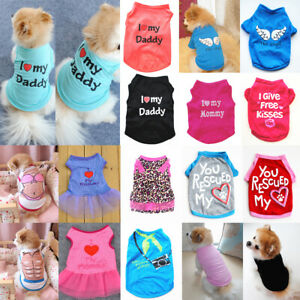 Pet Dog Cat Clothes Summer Puppy T Shirt Clothing Small Dogs Chihuahua Vest Hot