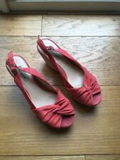 Dune Womens Coral Suede Wedges Size 5